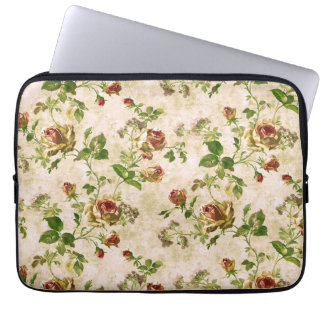Simply Vintage Antique Cottage Roses Laptop Sleeve