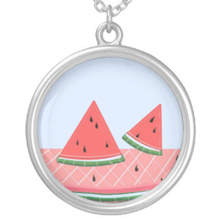 Simply Watermelon Silver Plated Necklace
