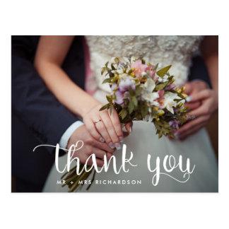 Simply Whimsical | Wedding Photo Thank You Postcard