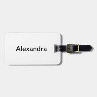 Simply White Solid Color Personalize It Custom Bag Tag