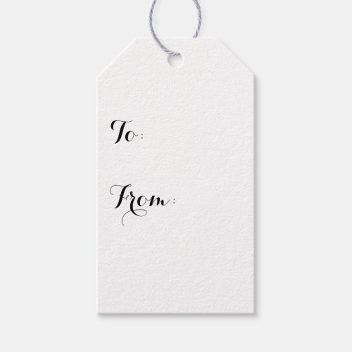 Simply White Solid Color Personalize It Custom Gift Tags