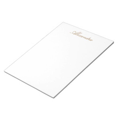 Simply White Solid Color Personalize It Custom Notepad