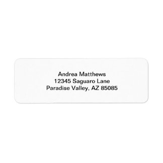 Simply White Solid Color Personalize It Label