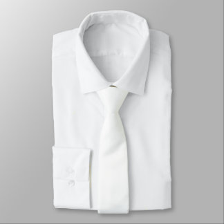 Simply White Solid Color Personalize It Tie