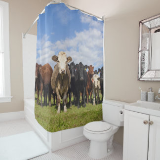 Simply - WUT? yes these are cows Shower Curtain