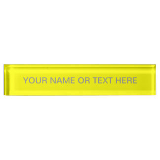 Simply Yellow Solid Color Desk Name Plate