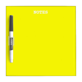 Simply Yellow Solid Color Dry-Erase Board