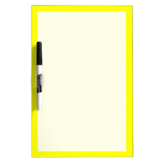 Simply Yellow Solid Color Dry Erase Board