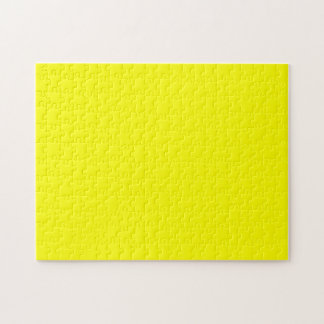 Simply Yellow Solid Color Jigsaw Puzzles