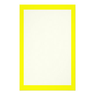 Simply Yellow Solid Color Stationery