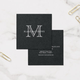 Do it yourself business cards templates zazzle simply your own personalize it monogram square business card solutioingenieria Choice Image