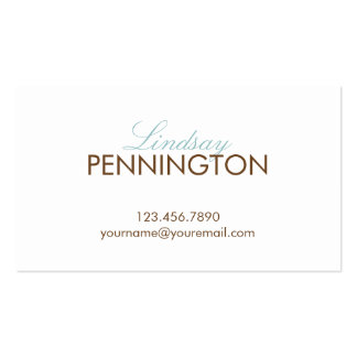 Simply Yours Modern Calling Card or Business Card