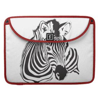 Simply Zebra  Rickshaw Sleeve For MacBooks