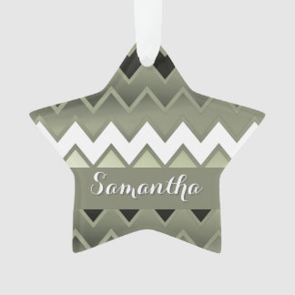 Simply ZigZag – Olive Green Ornament