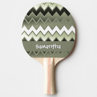 Simply ZigZag – Olive Green Ping-Pong Paddle