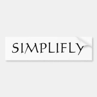 Simplyfly Etiqueta De Parachoque