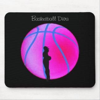 SimplyTonjia B-Ball Diva on Black Mouse Pad
