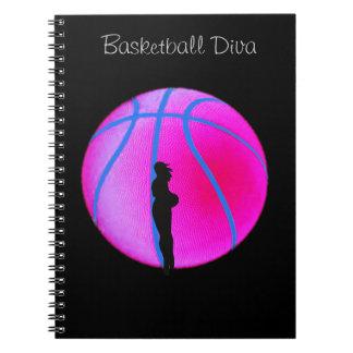 SimplyTonjia B-Ball Diva on Black Note book