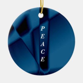 "SimplyTonjia ""Blue Tinsel"" design Ornament"