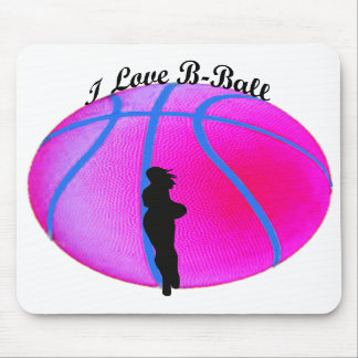SimplyTonjia Pink B-Ball Diva Mouse Pad