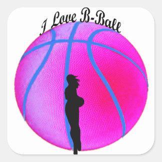 SimplyTonjia Pink B-Ball Diva Sticker