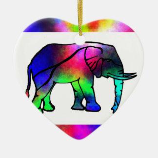 SimplyTonjia Pink Tail  Elephant Ornament