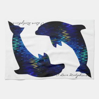 SimplyTonjia Venetian Dolphin Kitchen Towel