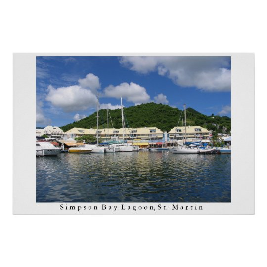 Simpson Bay Lagoon Poster