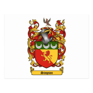 Simpson Crest - Coat of Arms Post Card