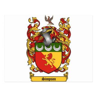 Simpson Crest - Coat of Arms Postcard