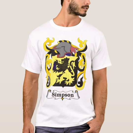 Simpson Family Coat of Arms T-shirt