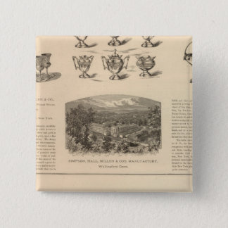 Simpson, Hall, Miller and Traveler's Company Pinback Button