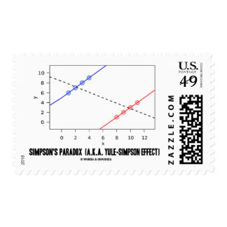 Simpson's Paradox (A.K.A. Yule-Simpson Effect) Postage Stamp