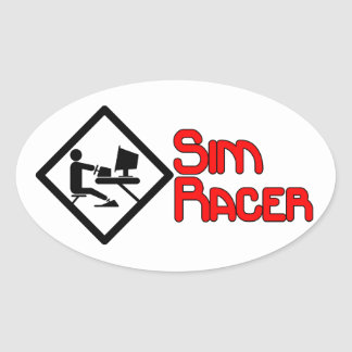 Simracing gifts oval sticker