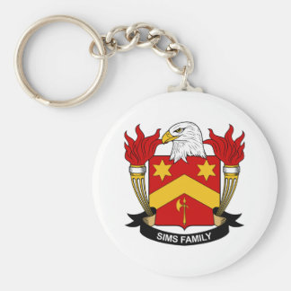 Sims Family Crest Keychain