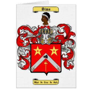 sims tarjeta de felicitación