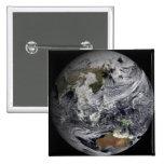 Simulación de la nube de la tierra llena pin cuadrada 5 cm