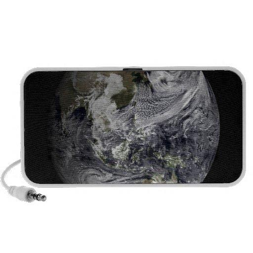 Simulación de la nube de la tierra llena portátil altavoz