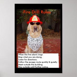Simulacro de incendio póster