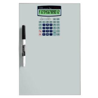 Simulated Calculator Dry-Erase Board