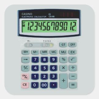 Simulated Calculator Square Sticker