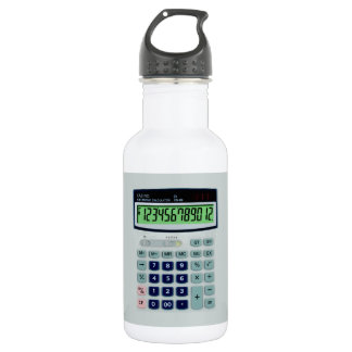 Simulated Calculator Stainless Steel Water Bottle