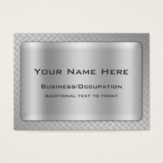 Simulated Diamond Cut Steel Plate Professional Business Card