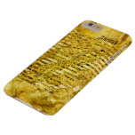 Simulated Gold Foil Paper Shiny Personalized Barely There iPhone 6 Plus Case