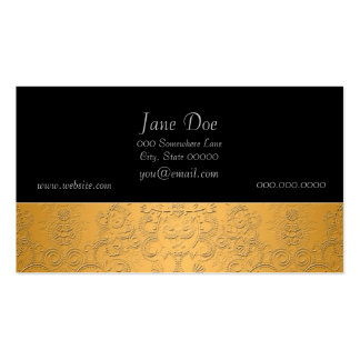 Simulated Gold with Embossed Ornate Design Business Card