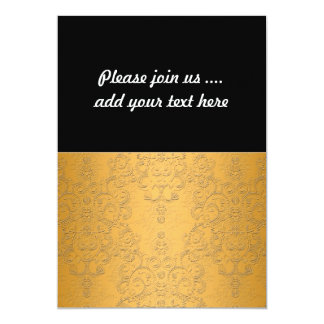 Simulated Gold with Embossed Ornate Design Card