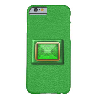Simulated Green Leather And Gemstone iPhone 6 Case