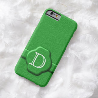 Simulated Green Leather Monogrammed iPhone 6 Case