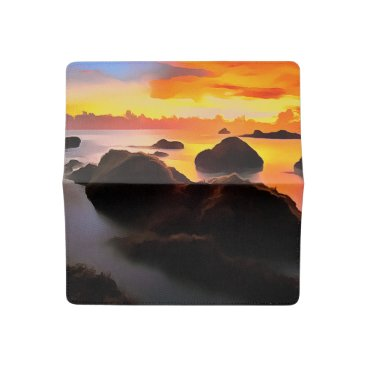 Beach Themed Simulated illustration of painting, checkbook cover