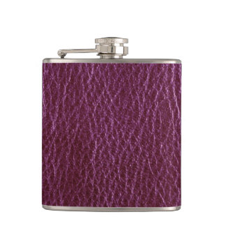 Simulated Leather Hip Flask